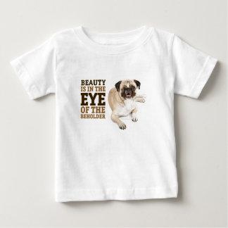 RDのパグの美しいの乳児のTシャツ ベビーTシャツ