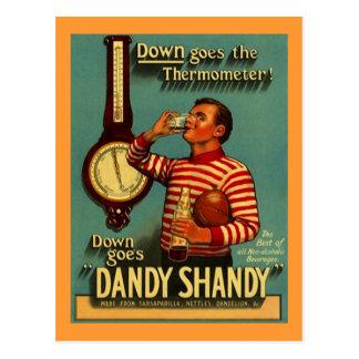 Re~PCを広告するダンディなSHANDYの飲料の広告のヴィンテージ ポストカード