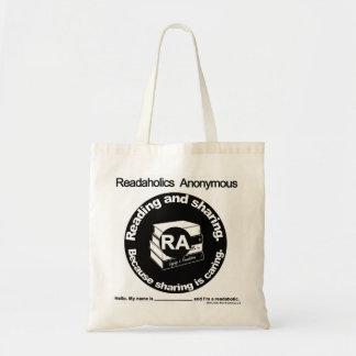 Readaholicsの匿名の戦闘状況表示板 トートバッグ