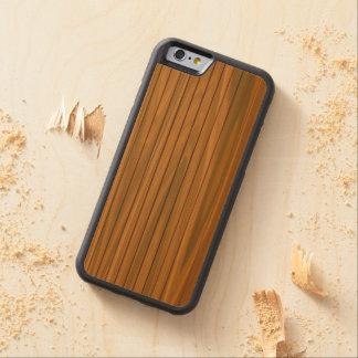 real木製のiPhone 6のバンパーの箱の美しい CarvedメープルiPhone 6バンパーケース