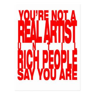 Real.Artist.red ポストカード