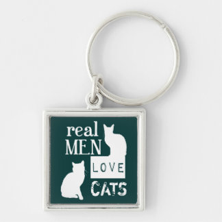 Real Men Love Cats (available in all colours) キーホルダー