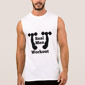 Realmenのトレーニング 袖なしシャツ