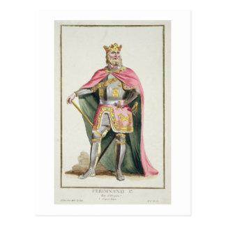「ReceuからのアラゴンのフェルディナントIの(1379-1416年の)王 ポストカード