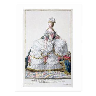 「Receuil des EstamからのMarieアントワネット(1752-93年) はがき
