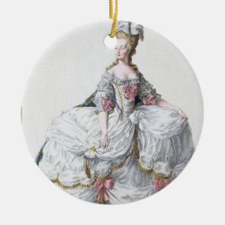 「Receuil des EstamからのMarieアントワネット(1752-93年) セラミックオーナメント