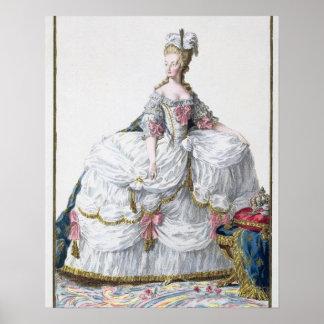 「Receuil des EstamからのMarieアントワネット(1752-93年) ポスター