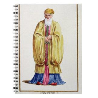「Receuil des Estampesからの孔子(551-479紀元前に)、 ノートブック