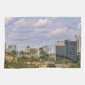 Recife、Pernambucoブラジルの都市景観 キッチンタオル
