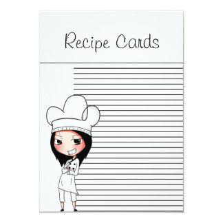 Recipe Cardsシェフの女性 カード