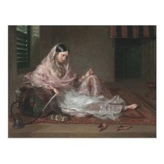 Reclining ByフランチェスコRenaldiイスラム教の女性 ポストカード