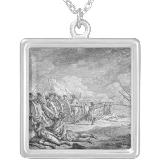 「Recueilのd'Estampesからのレキシントンの戦い、 シルバープレートネックレス