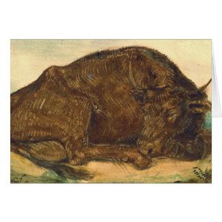 Recumbent Bull 1842年 カード