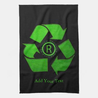 Recycle Logo by Shirley Taylor キッチンタオル