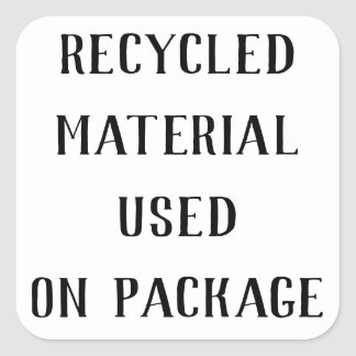 Recycled Material Repurpose Shipping Mailings スクエアシール