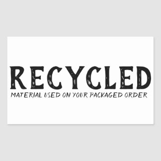 Recycled Material Used Repurpose Shipping 長方形シール