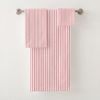 Red and White Pinstripe バスタオルセット