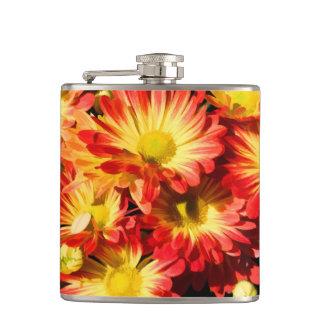 RED AND YELLOW MUMS FLASK フラスク