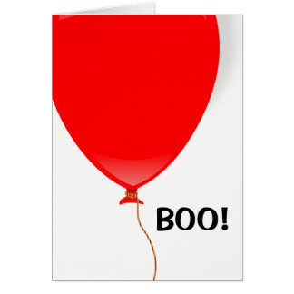 Red Balloon Halloween Card カード
