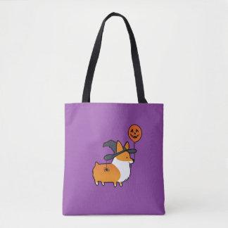 Red Corgi Halloween Bag トートバッグ