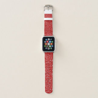 Red Glitter Design Apple Watchバンド