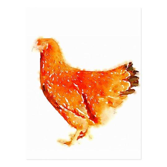 red hen ポストカード