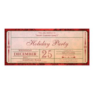 red Holiday Companyパーティの招待状 カード