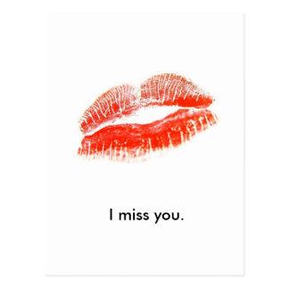 red_lips、私は恋しく思います ポストカード