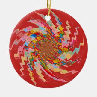 Red Magic Pinwheel Christmas Tree Bauble セラミックオーナメント