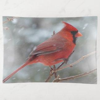 Red Male Cardinal トリンケットトレー