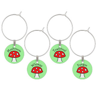 Red Mushroom Wine Charms ワインチャーム