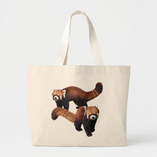 Red Panda ラージトートバッグ