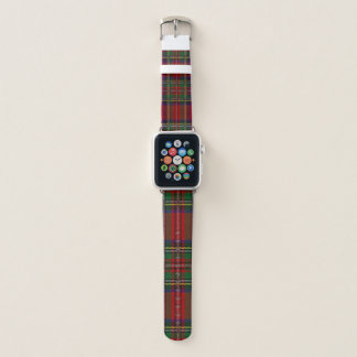 Red Plaid Design Apple Watch Band. Apple Watchバンド