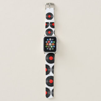 Red Record Label Apple Watch Band Apple Watchバンド