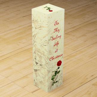 Red Rose Darling Wife at Christmas design ワインギフトボックス