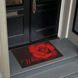Red Rose:Door mat ドアマット