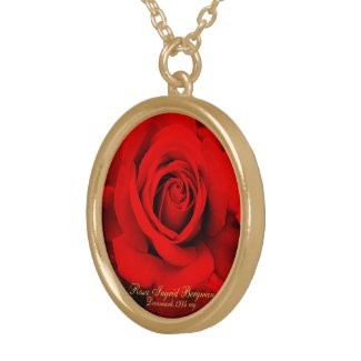 Red Rose [Gold Pate Necklace] ゴールドプレートネックレス
