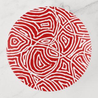 Red Scribbleprints トリンケットトレー