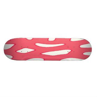 Red white fantasy pattern オリジナルスケートボード