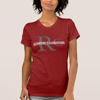 RedboneのCoonhoundか愛犬家のイニシャルのワイシャツ Tシャツ