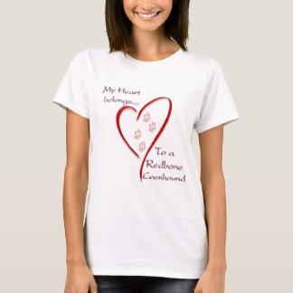 RedboneのCoonhoundのハートは属します Tシャツ