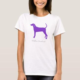 RedboneのCoonhoundのTシャツ(紫色のシルエット) Tシャツ