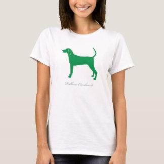 RedboneのCoonhoundのTシャツ(緑のシルエット) Tシャツ