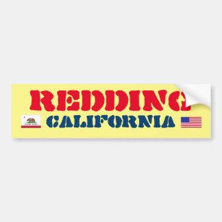 Reddingカリフォルニアのバンパーステッカー バンパーステッカー