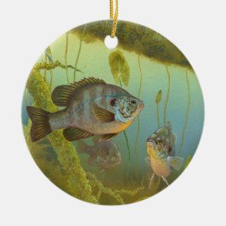 RedearのSunfishのLepomis MicrolophusテモテKnepp セラミックオーナメント