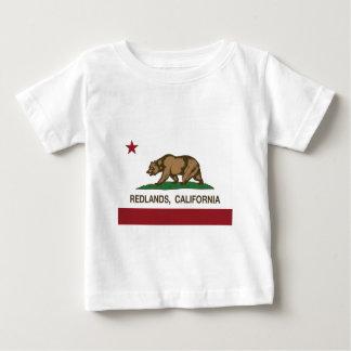 redlandsカリフォルニア州の旗 ベビーTシャツ