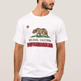 redlandsカリフォルニア州の旗 tシャツ