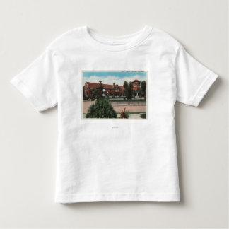 Redlands、カリフォルニア-にこやかな図書館の眺め トドラーTシャツ