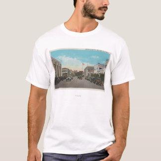 Redlands、カリフォルニア-ビジネス地区のタウンセンターは竸います Tシャツ