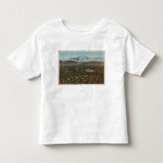 Redlands、カリフォルニア-山及び果樹園場面 トドラーTシャツ